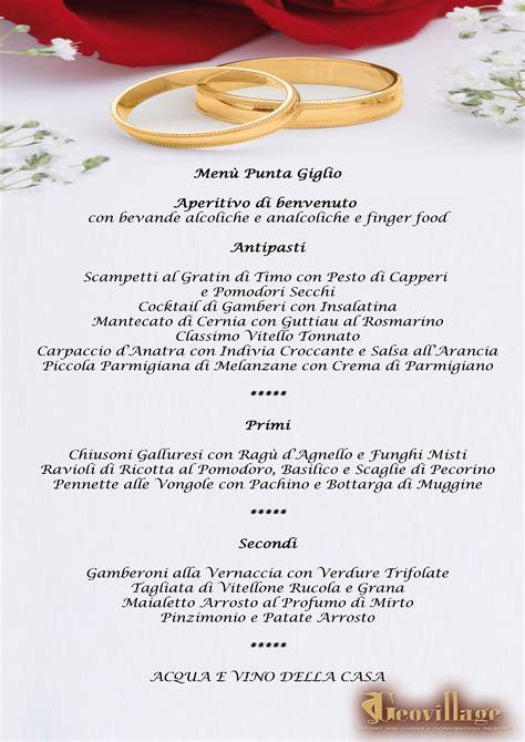 menu banchetti banqueting per matrimoni e cerimonie ricevimenti e
