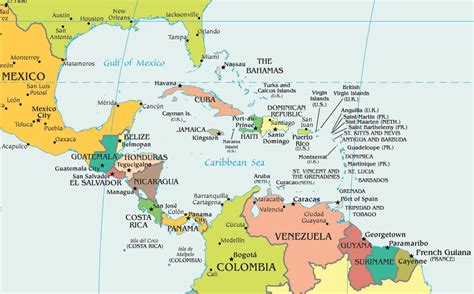 interactive map of central america and caribbean map of central america and caribbean grahamdennis me