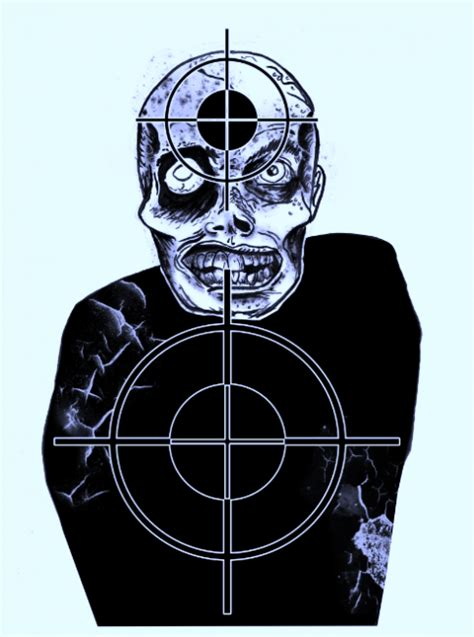 printable zombie face targets free printable shooting targets for pistol zombie airgun