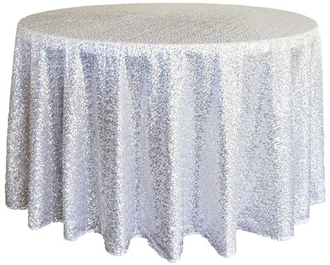 Sequence Table Cloths by Platinum Sequin Table Cover Linens 132 Quot