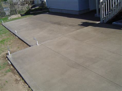 concrete finishes for patios backyard patio with brushed finish buchheit construction