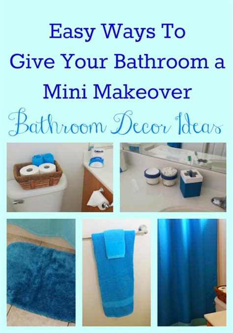 easy bathroom makeover ideas easy bathroom decor ideas