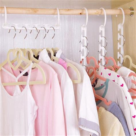 Magic Hanger Clothes Organiser Isi 8 Gantungan Baju Hemat Ruang 1 pc space saving hanger plastic cloth hanger hook magic clothes hanger with hook closet