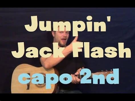 tutorial jumpin jack flash jumpin jack flash the rolling stones easy strum guitar