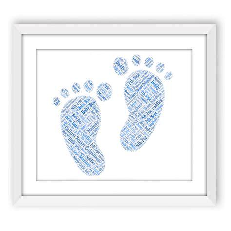 Baby Boy Footprint baby boy footprints words with