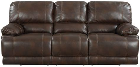 chocolate brown leather reclining sofa rigley chocolate brown bonded leather reclining sofa from