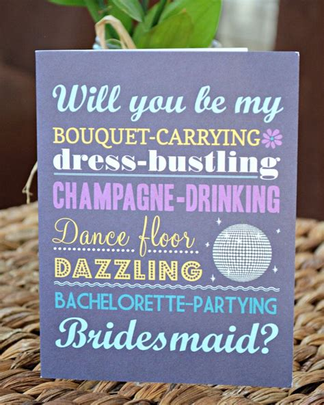 diy will you be my bridesmaid cards template planning 4 the wedding entourage wedding philippines