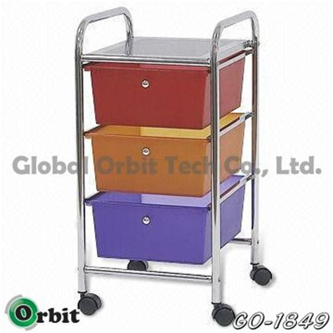 Colorful Drawers On Wheels Colorful 4 Tier Plastic Storage Trolley With Drawers Space