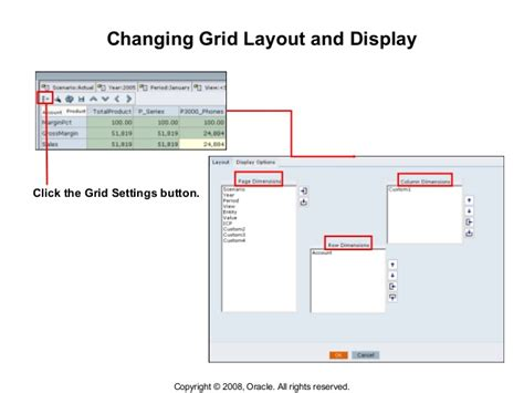 grid layout oracle l10 entering data using data grids
