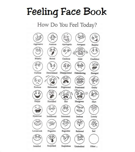 feelings chart template 9 download free documents in pdf