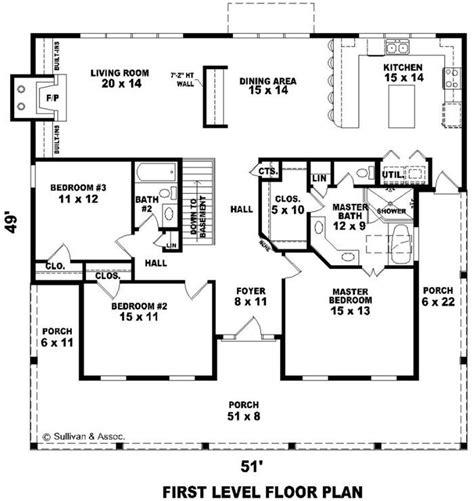 1800 square feet 4 bedrooms 3 batrooms 3 parking space 103 best house plans images on pinterest floor plans
