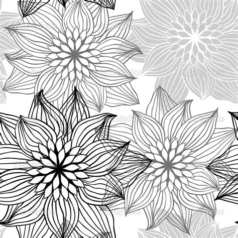 flower pattern to draw seamless pattern with hand draw flowers floral