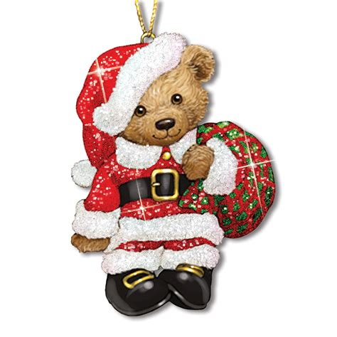 teddy bear glitter ornaments your 1st one is free the