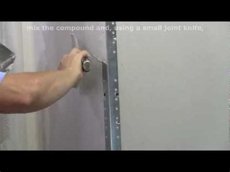 how to finish metal drywall corner bead