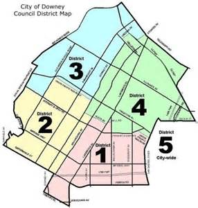 city of downey district map