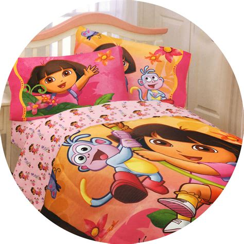 dora comforter dora explorer jungle sunset twin comforter pink boots