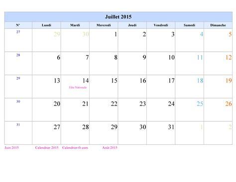 Calendrier à Imprimer Juillet 2015 Calendrier Juillet 2015 224 Imprimer Gratuit En Pdf Et Excel