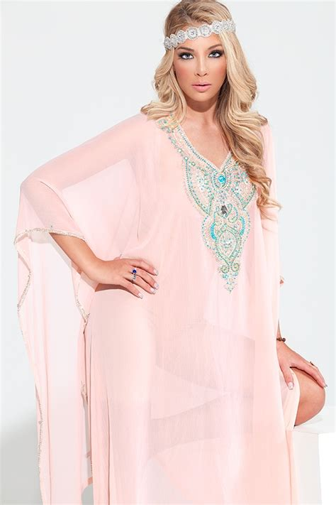 Jawhara Syafira In Pink Set 116 best caftans images on moroccan dress caftan dress and moroccan style