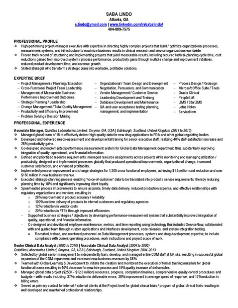 project analyst resume sle 100 qa project manager resume quality assurance resume