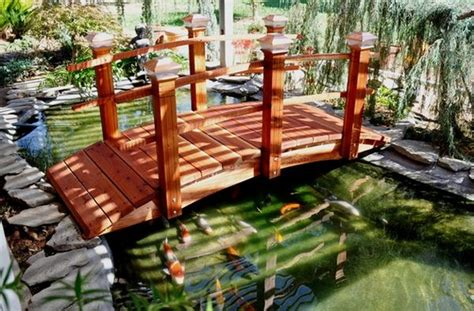 koi pond bridge fill in the lacking beauty in your garden with a bridge