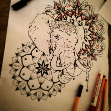 elephant mandala tattoo the world s catalog of ideas