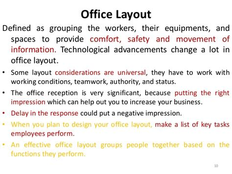 office definition definition layout drawing