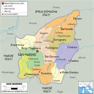 Detailed political and administrative map of san marino with roads and