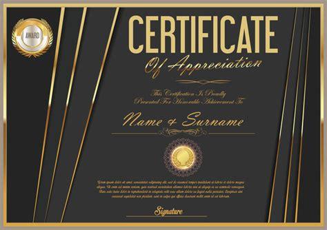 certificate design golden luxury certificate template golden vector 05 vector