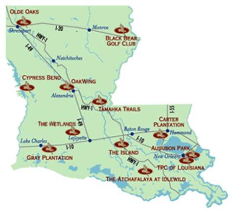 louisiana golf map audubon golf trail