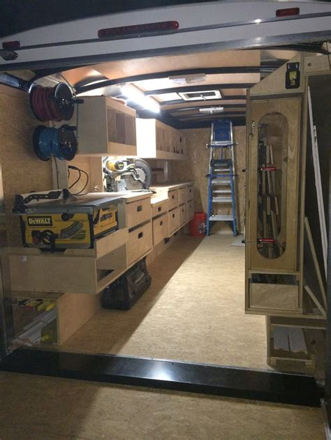 work trailer layout organized construction trailer projects pinterest