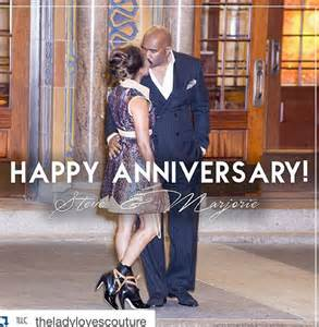 Comedian steve harvey and wife marjorie celebrate 8th wedding