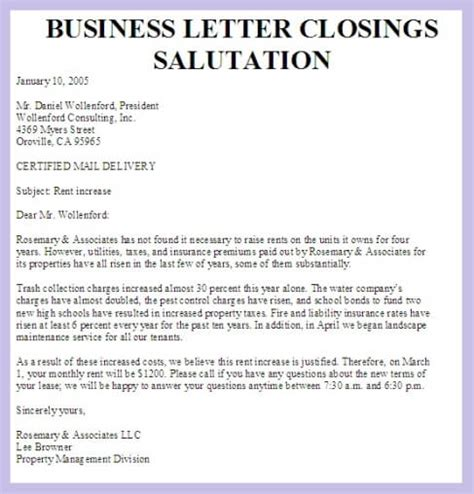 Closing For Business Letter In Formal Letter Closings Custom College Papers