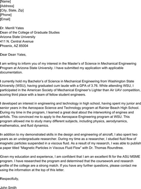 Master S Degree Letter Of Intent Exle sle letter of intent for free formtemplate