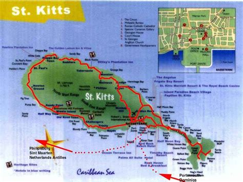 basseterre st kitts beaches america caribbean