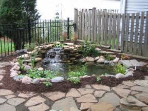 Small Garden Waterfall Ideas Easy And Simple Backyard Landscaping House Design With Ponds Surrounded By Small Garden With