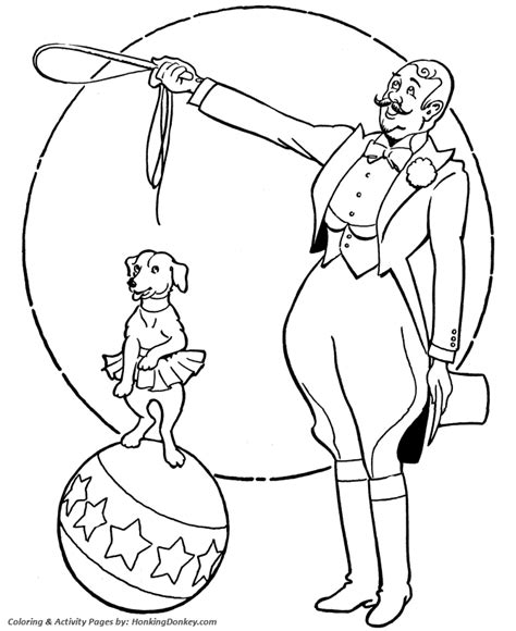 Big Top Coloring Coloring Pages Circus Animals Coloring Pages