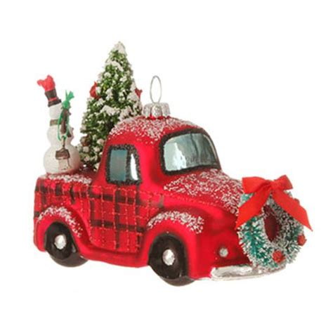 new raz truck or woody automobile glass christmas tree