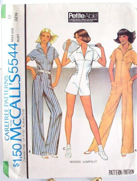 vintage jumpsuit pattern vintage mccalls jumpsuit pattern 5544 size 10 vintage