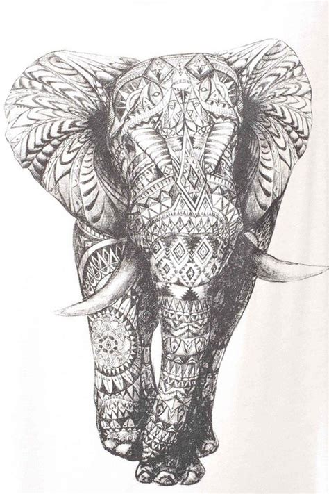 pattern elephant art aztec elephant tumblr