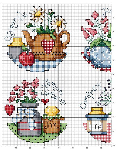punto croce in cucina schema punto croce cucina spezie 3