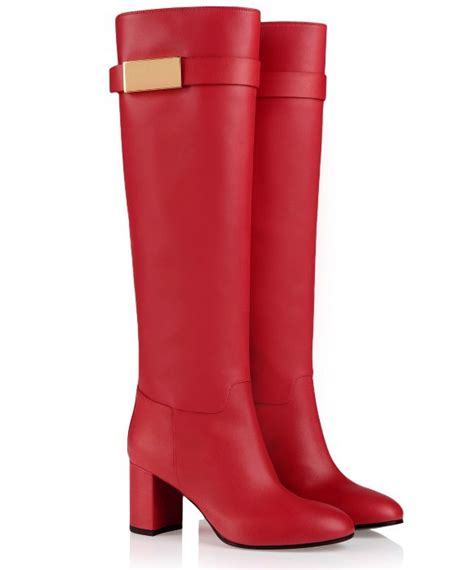 long motorcycle boots winter woman shoes red leather long motorcycle boots knee