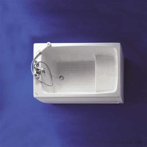 ideal standard bathtubs armitage shanks showertub s125401 1200mm two tap holes