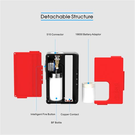 Pulse Squonk Pulse Skuong 1 original vandy vape pulse bf squonk mod with replaceable