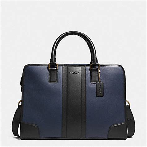 the directors couch coach f71639 bombe leather directors briefcase navy