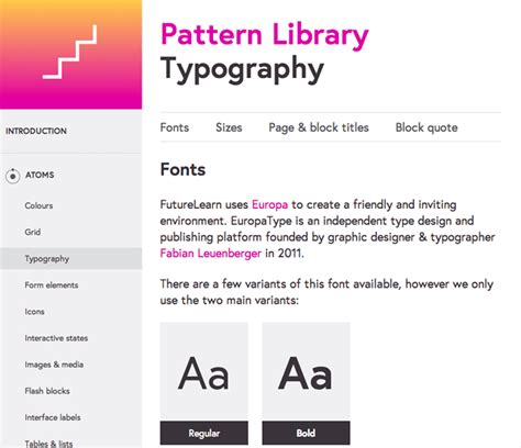 website pattern library building our first pattern library futurelearn