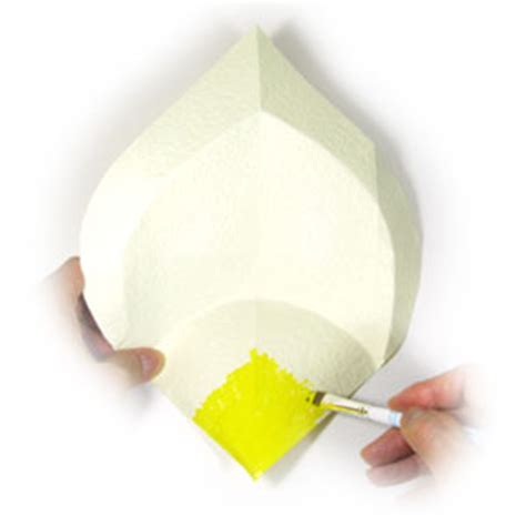 Calla Origami - how to make an origami calla page 7