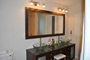 bathroom mirror framing diy mirror frame diy my home