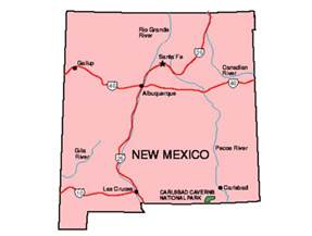 and new mexico map new mexico facts symbols tourist attractions