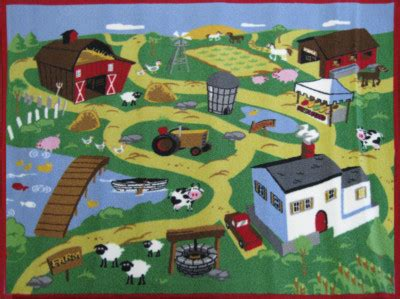 caldwellcarpet childrens farm activity play rug 4