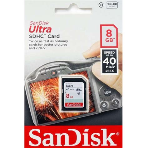 Sandisk 8 Gb Ultra 40 Mb S Sdhc sandisk ultra sdhc card uhs i class 10 40mb s 8gb